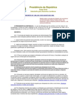 Decreto 1590 Jornada de Trabalho Servidor