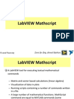LabVIEW Mathscrip