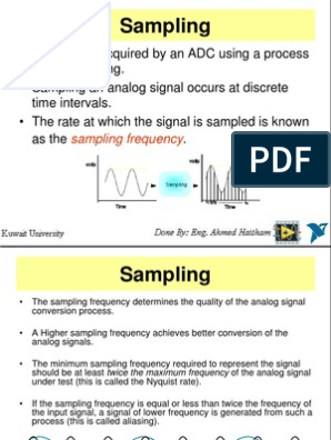 AC Signals & Sampling | Sampling (Signal Processing