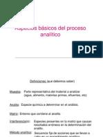 QUIMICA ANALÍTICA  Proceso de análisis químico