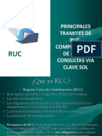 Principales Tramites RUC
