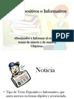 Textos Expositivos o Informativos 8vo