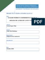Análisis teórico y experimental de vigas armadas de acero de canto variable