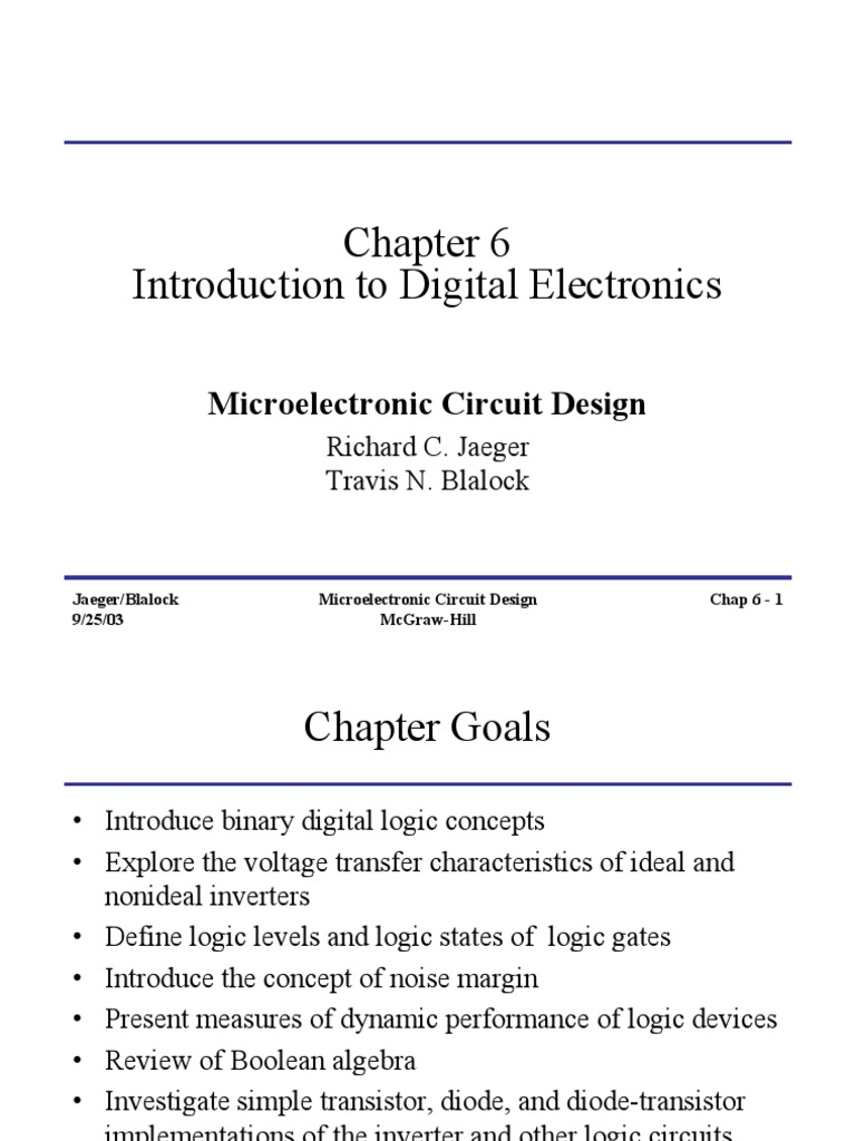 Chap6 Introduction To Digital Electronics Mosfet Logic Gate Simple Circuit
