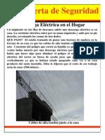 Alerta de Seguridad  Electrocución en el Hogar