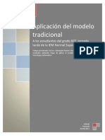 Aplicación del modelo tradicional