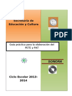 Guia Para Elaboracion PETE-PAT 2013-2014