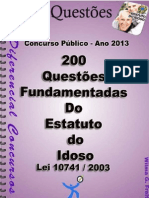 200 Questões do Estatuto do Idoso