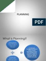 PLANNING Presentation