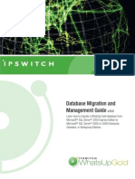 WhatsUp Gold v15 Database Migration Guide