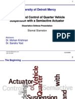 97275227 Modeling and Control of Quarter Vehicle Suspension With a Semiactive Actuator Stamat Stamatov Doctoral Presentation