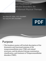 Temporomandibular Disorders, Examination and TX of, An Evidence-Based Manual PT Approach (2010) - PPT