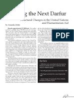 Stopping the Next Darfur_Amanda Zerbe