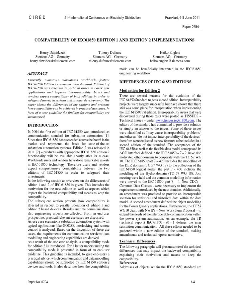 Iec 61850 edition 1 and 2 pre-test | tüv süd group.