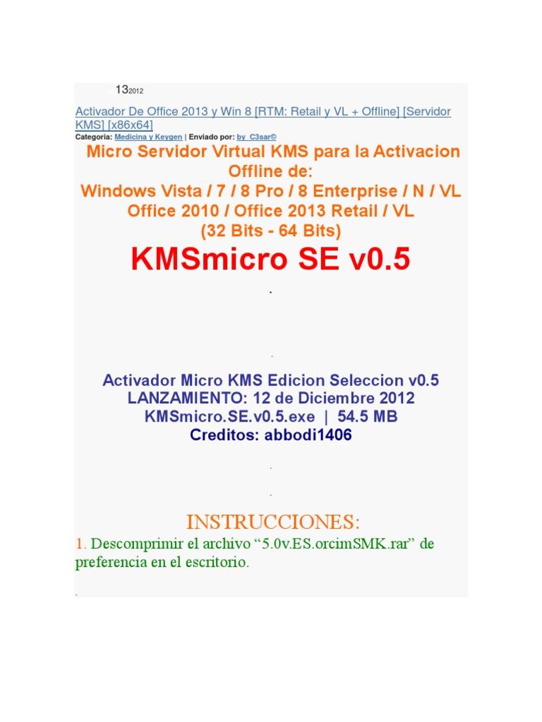 activador de office 2013 64 bits