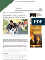 Respaldan Al TC - Pero Reclaman Al Congreso Proteger a Adolescentes _ LaRepublica