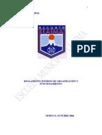 Reglamento Interno de Organización y Funcionamiento   de la Escuela Municipal