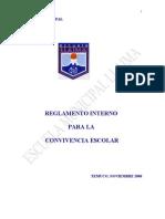Reglamento Interno Para La Convivencia Escolar 2006