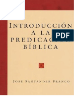 INTRODUCCIÓN A LA PREDICACIÓN BÍBLICA -Jose Santander Franco