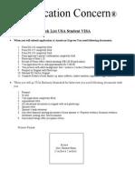 Check List USA Student VISA