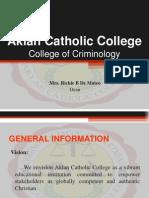 Criminology Orientation
