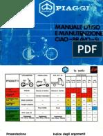 Piaggio Ciao Bravo Si Manuale d'Uso e Manutenzione