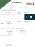 1° Guía de Taller de Matemática