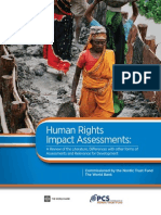 Human Rights Impact Assessments - For World Bank - 2012