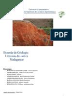 Erosion Du Sol a Madagascar