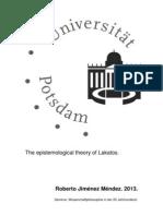 The Refined Methodological Falsificationism Lakatos
