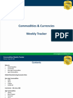 Commodities Weekly Tracker, 5th Aug 2013