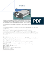 Inverters specifications