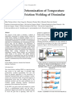Experimental Determination of Temperature during Rotary Friction Welding of Dissimilar Materials