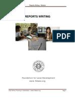 Reports Writing - Module 21 May