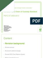 PEFC Webinar Revised CoC - June 2013
