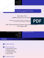 Google Hacking Against Privacy