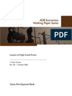 Causes of High Food Prices