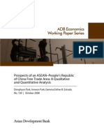 Prospects of an ASEAN-People's Republic of China Free Trade Area