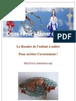 rosaire de l'enfant à naître