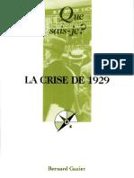 Que Sais-je - La Crise de 1929