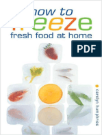 How to Freeze Fresh Food at Home