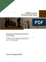 Economics of Energy Conservation