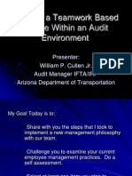 004 Managing for Compliance - Creating a Teamwork Based Culture Within an Audit