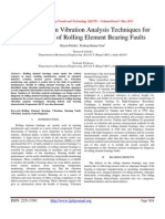 An Overview on Vibration Analysis Techniques for the Diagnosis of Rolling Element Bearing Faults