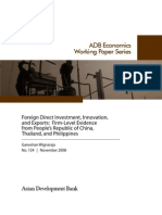Foreign Direct Investment, Innovation, and Exports