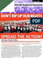 PCS Union Midlands Regional Newsline Winter 2012