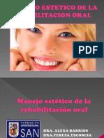 Manejo Estetico de La Rehabilitacion Oral