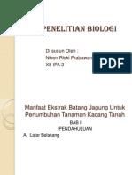 Penelitian Biologi.ppt Niken
