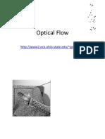 Optical Flow, Motion Field, Horn Schunck, Lucas Kanade, Aperture Problem, Optical Flow Failure, Pyramids, Interpolation, 3d Rigid Motion, Displacement, Instantaneous Velocity, Affine Transformation