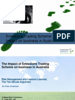 The Impact of Emissions Trading Scheme on Business in Australia